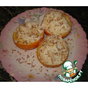 """Рецепт Суфле """"Апельсины в снегу"""""""