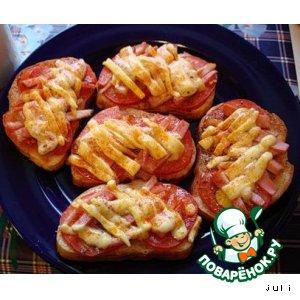 Рецепт Горячие бутерброды к завтраку