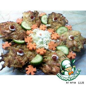 Рецепт Картофельные оладушки с семгой