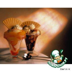 Рецепт Два десерта - из дыни, арбуза и суфле из шоколада
