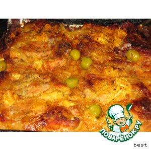 Рецепт приготовления с фотографиями Свиная корейка на косточке с апельсинами по-гречески