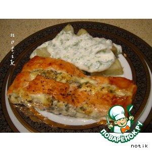 Форель с голубым сыром домашний рецепт с фотографиями