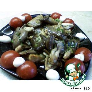 Как приготовить Вешенки жареные в чесночном маринаде простой рецепт с фото пошагово на Новый Год