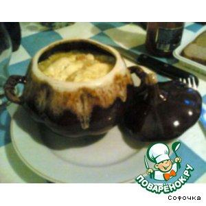Рецепт Мясо  с грибами в горшочках