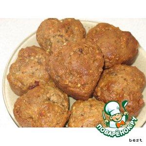 Как готовить Кексы с овсянными хлопьями и орехами простой рецепт приготовления с фотографиями