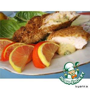 Рецепт Куриная грудка в сухарях, фаршированная сыром