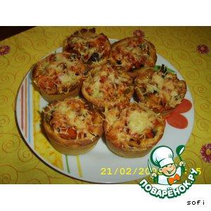 Мини-пицца домашний рецепт приготовления с фото на Новый Год