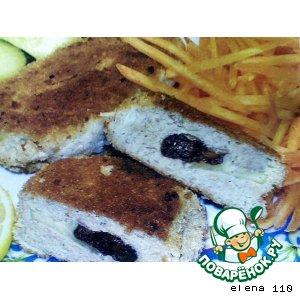 Домашний рецепт с фото Рыбные биточки с черносливом на Новый Год