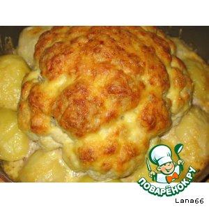 Рецепт Фаршированная цветная капуста с сыром