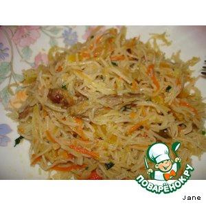 "Рецепт Корейский салат ""Фунчеза"""