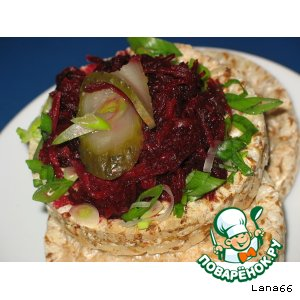 Рецепт Салат из свеклы с огурцами