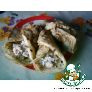 Рецепт Блинчики салатные