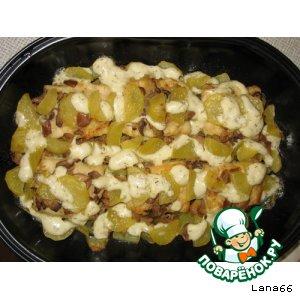 Рецепт Филе окуня запеченое с картофелем и грибами