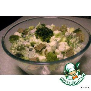 Рецепт Салат из маринованной брокколи с мясом