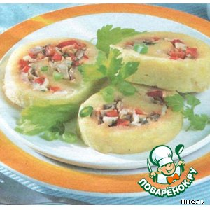 Картофельный рулет домашний рецепт с фото пошагово как готовить
