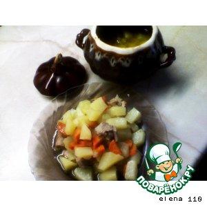 Рецепт Жаркое из индейки с овощами в горшочке