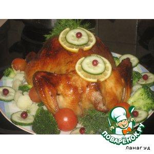 Как готовить простой рецепт с фото Курица с медом и черносливом