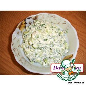Рецепт Салатик «Весенний зеленый»