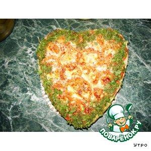 """Рецепт Запеканка """"Сердце для любимого"""""""