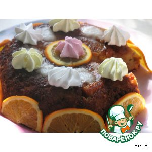 Рецепт Английский пудинг  с фруктами и мороженым