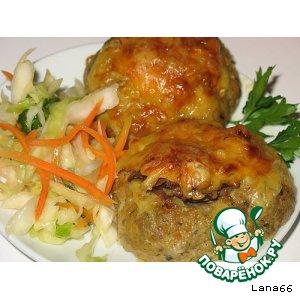 Рецепт Котлеты-гнезда, запеченые в духовке