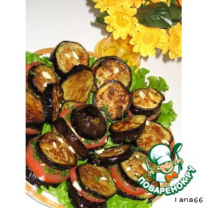 Рецепт Баклажано-помидорные столбики