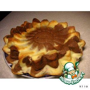 Рецепт Ванильно-шоколадный творожник-чизкейк