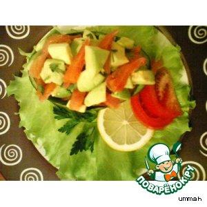 Рецепт Салат из авокадо и форели
