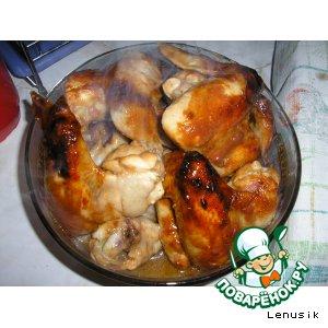 Рецепт Куриные крылышки в апельсиновом соусе