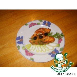Рецепт Жаренный маринованный лосось