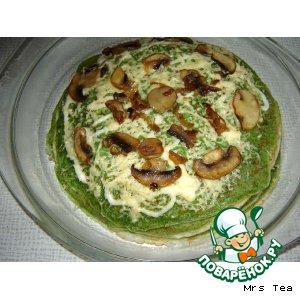 Рецепт Блинный пирог с рыбой
