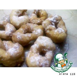"""Рецепт: Пончики дрожжевые """"Как в детстве"""""""