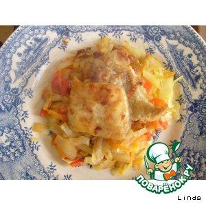 Рецепт Рыбка с овощами