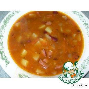 Рецепт Острый фасолевый суп