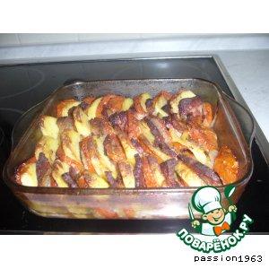 Рецепт Картофель с помидорами и луком