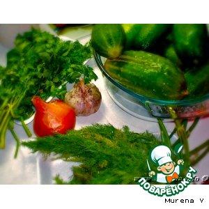Рецепт Салат из переросших огурцов с луком