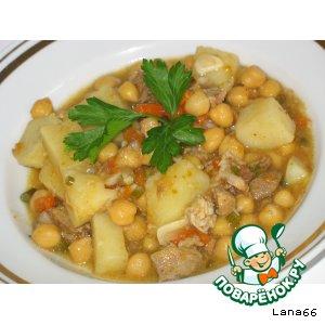 Рецепт Свинина с горохом Нут
