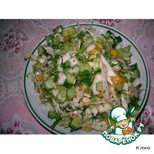 Рецепт Зеленый салат с манго