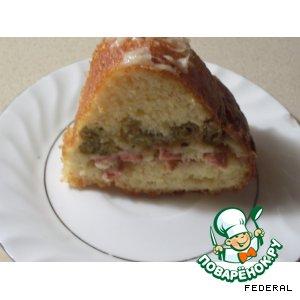 Рецепт Кекс с сыром и колбасой