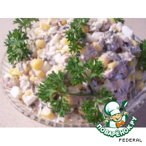 рецепт салат тунец с капустой