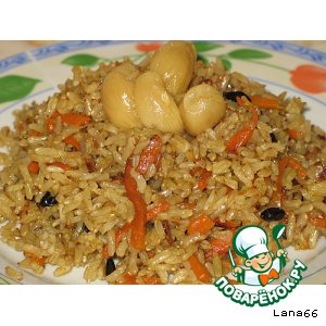 Рецепт Постный плов из риса ИНДИКА brown