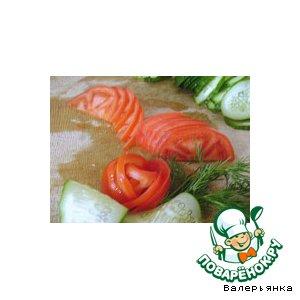 Рецепт Розочки из помидоров