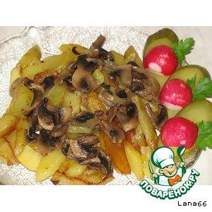Рецепт Жареная картошечка с грибами