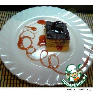 Рецепт Творожник с клубникой и клубничным соусом