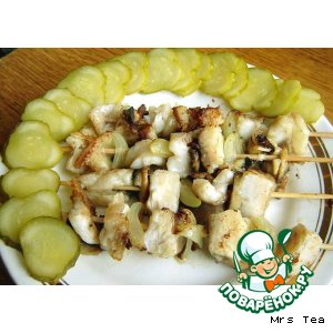 Рецепт Рыбные шашлычки на сковородке