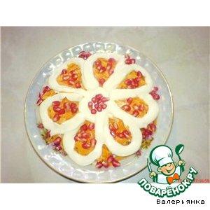 Рецепт Куриное филе с ананасами и гранатом