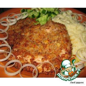 Рецепт Куриный шницель в ореховой панировке