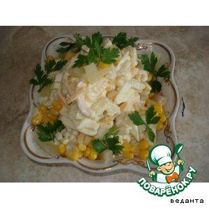 Рецепт Кальмары с ананасами