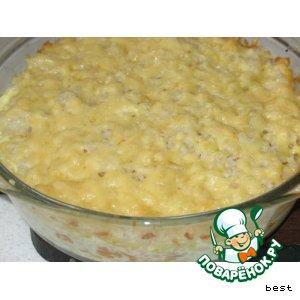 Рецепт Быстрая рисовая запеканка
