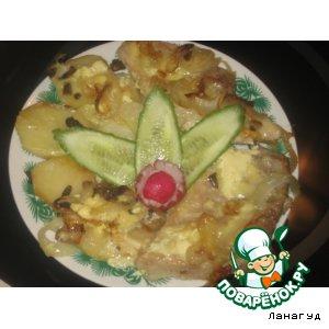 Рецепт Свинина, запеченная с картофелем и грибами